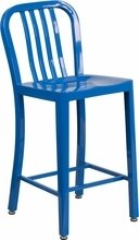Indoor/outdoor bar or counter height commercial stool