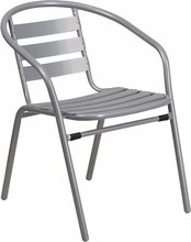 Commercial Aluminum outdoor dining chair