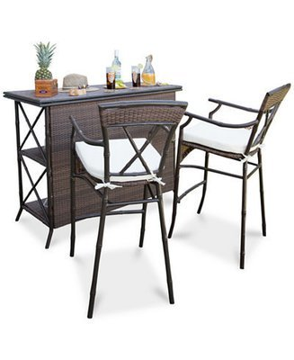 Rum Cay 3 piece indoor/outdoor bar set