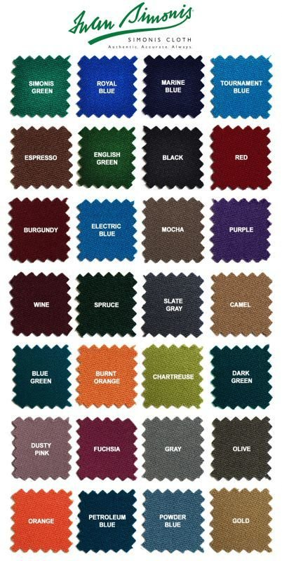 Simonis 860 billiard Cloth