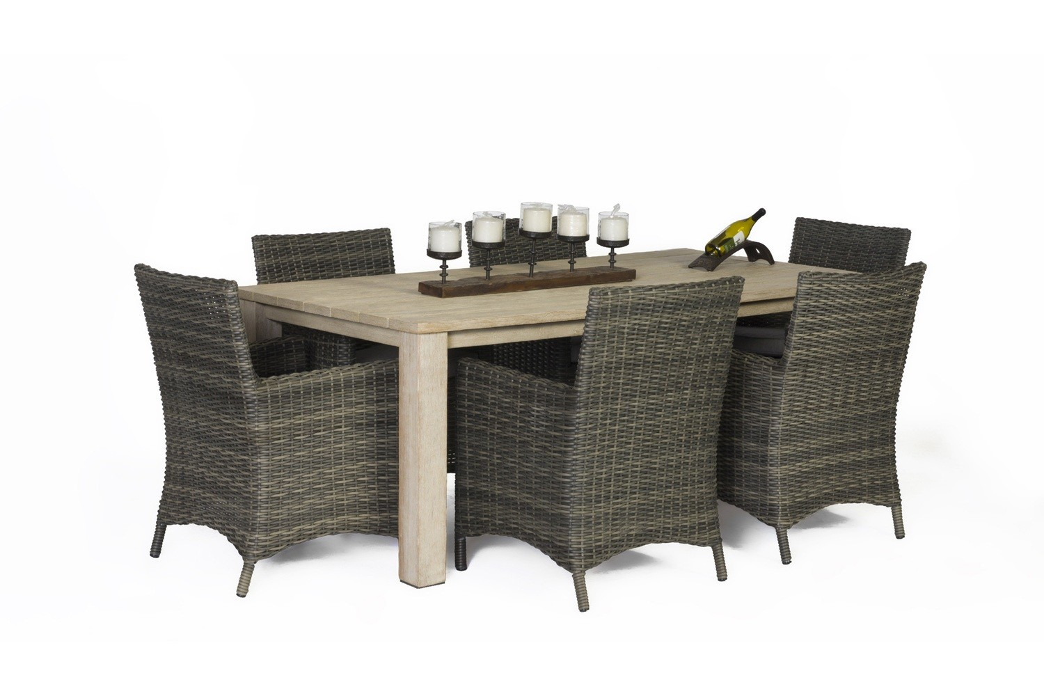Napa An-Teak Seven Piece Dining Table