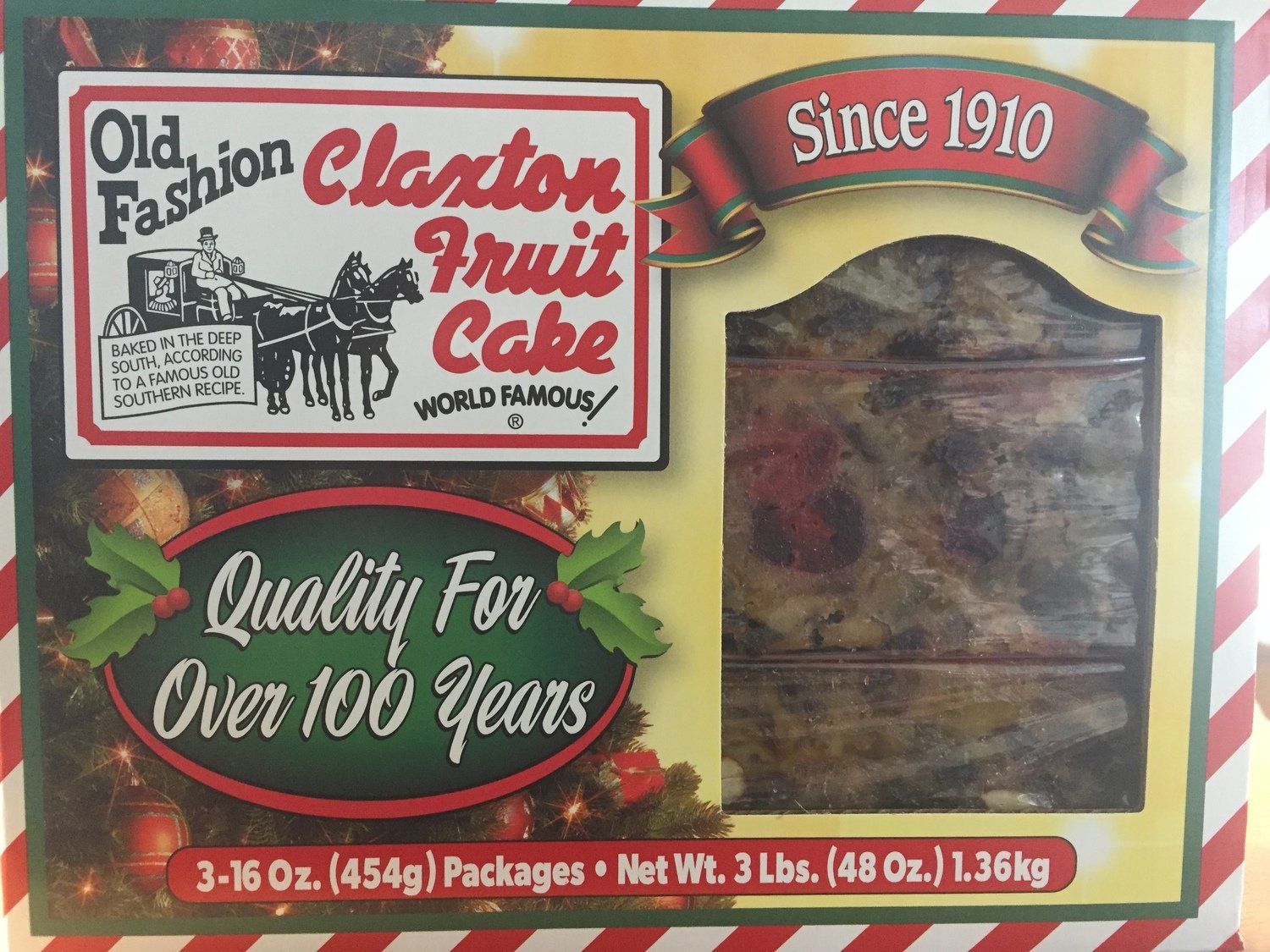 Claxton's Fruit Cake 3-1/lb Cakes