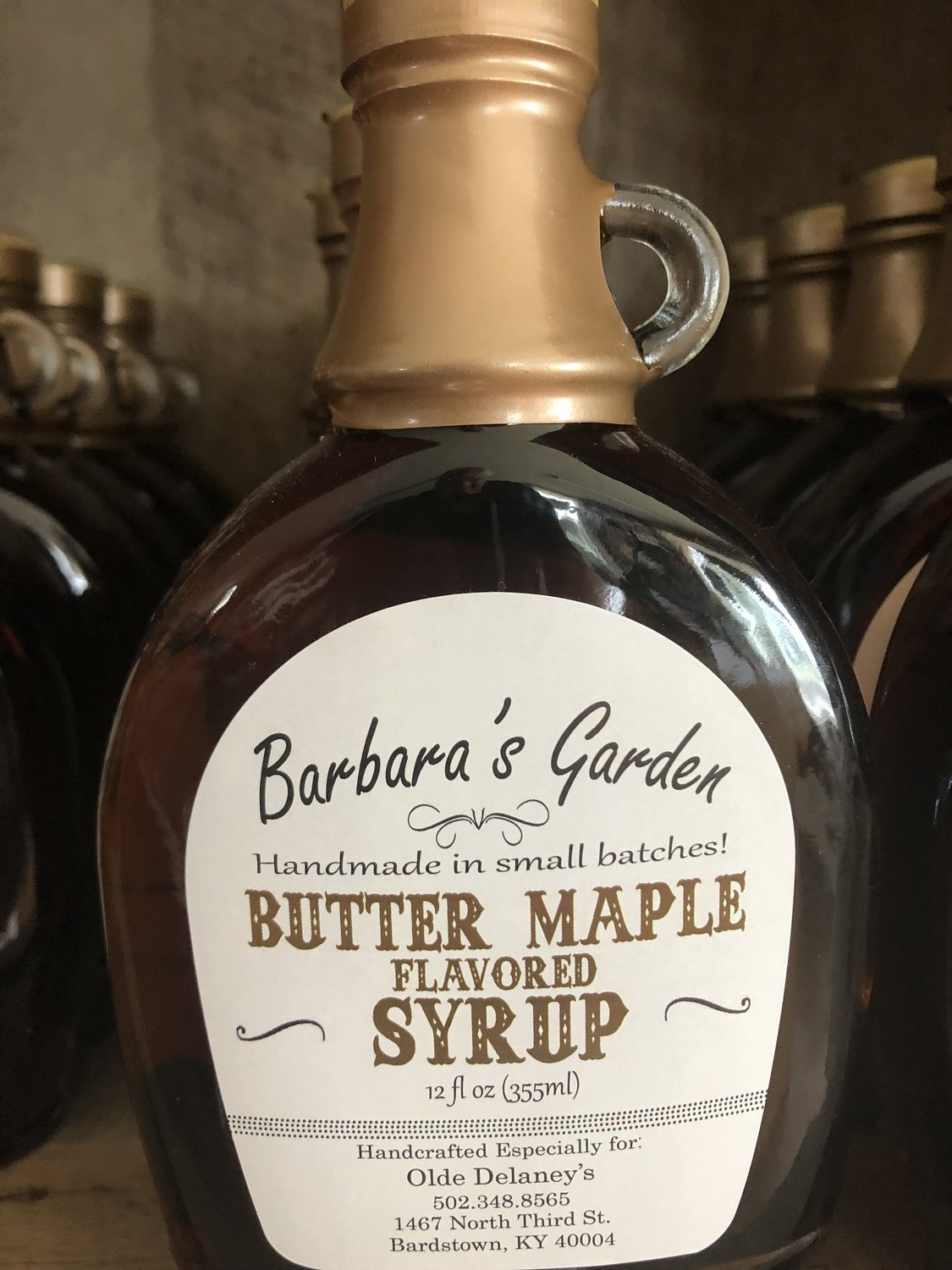 Barbara's Garden Butter Maple Flavored Syrup 12 oz