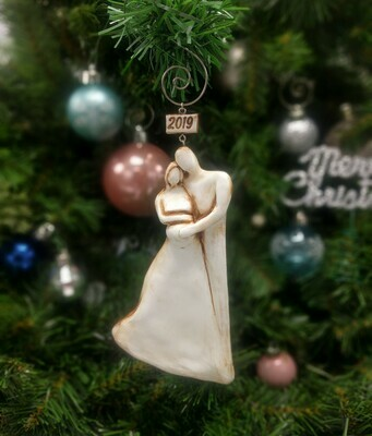 Expecting Ornament Couple, Pregnant Ornament, Pregnancy ornaments