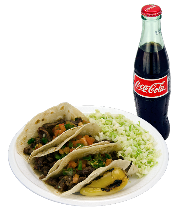 MONDAY'S SPECIAL 3 CARNE ASADA TACOS  + ANY DRINK