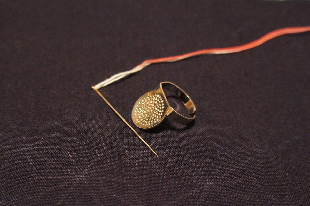 A set of Sashiko Needles and Thimble