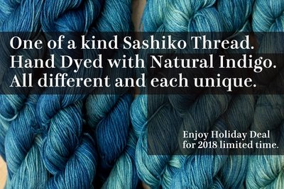 Indigo Dye Sashiko Thread | One of a kind for Holiday 2018