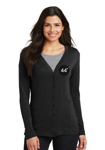 44N Port Authority® Ladies Modern Stretch Cotton Cardigan -L515 - Black