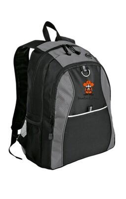 Port Authority® Contrast Honeycomb Backpack Grey/Black