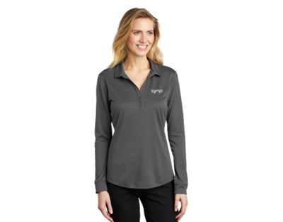 Port Authority® Ladies Silk Touch™ Performance Long Sleeve Polo -L540LS