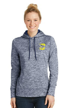 Sport-Tek® Ladies PosiCharge® Electric Heather Fleece Hooded Pullover. LST225.