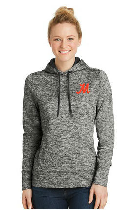 Sport-Tek® Ladies Electric Heather Fleece Hooded Pullover. LST225.