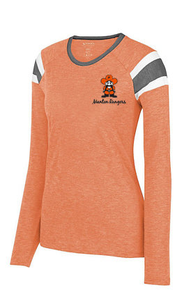 Ladies -  Augusta Ladies Long Sleeve Fanatic Tee Style # 3012