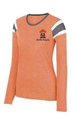 Ladies -  Augusta Ladies Long Sleeve Fanatic Tee Style # 3012