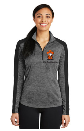 Womens - LST397 Sport-Tek® Ladies PosiCharge® Electric Heather Colorblock 1/4-Zip Pullover
