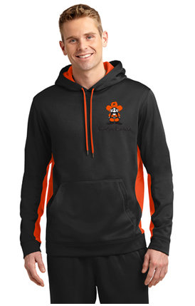Mens ST235 Sport-Tek® Sport-Wick® Fleece Colorblock Hooded Pullover