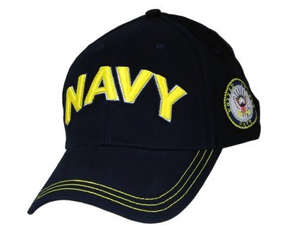 CAP-NAVY 3-D TEXT LOGO ON SIDE DKN