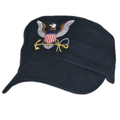 CAP-US NAVY LOGO - DKN - FLAT TOP