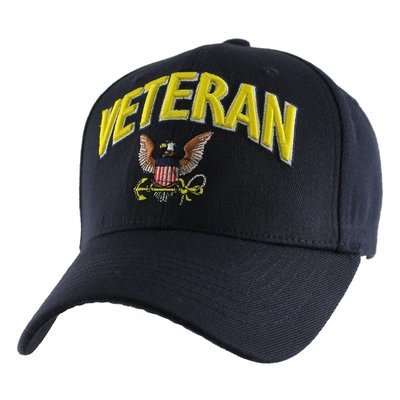 CAP-VETERAN W/ NAVY LOGO (STRETCH FIT)