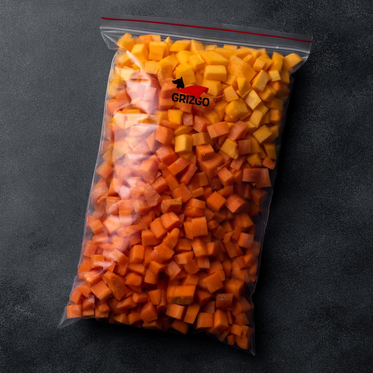 Овощи сырые тыква и морковь 1000 г