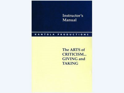 Criticism: Giving and Taking Instructor's Manual 00038