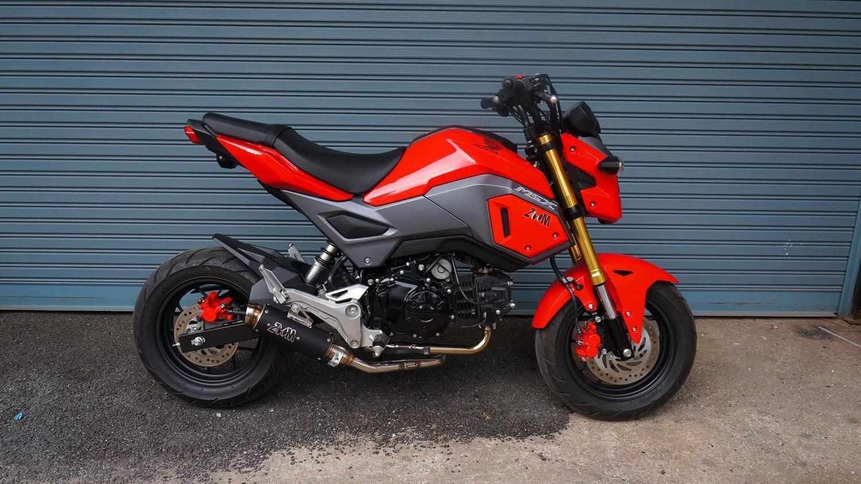 ZoOM Exhaust Honda Grom 125 MSX 125SF 2013-2019 Full System Low Mount Black  ALBK 2SLZ