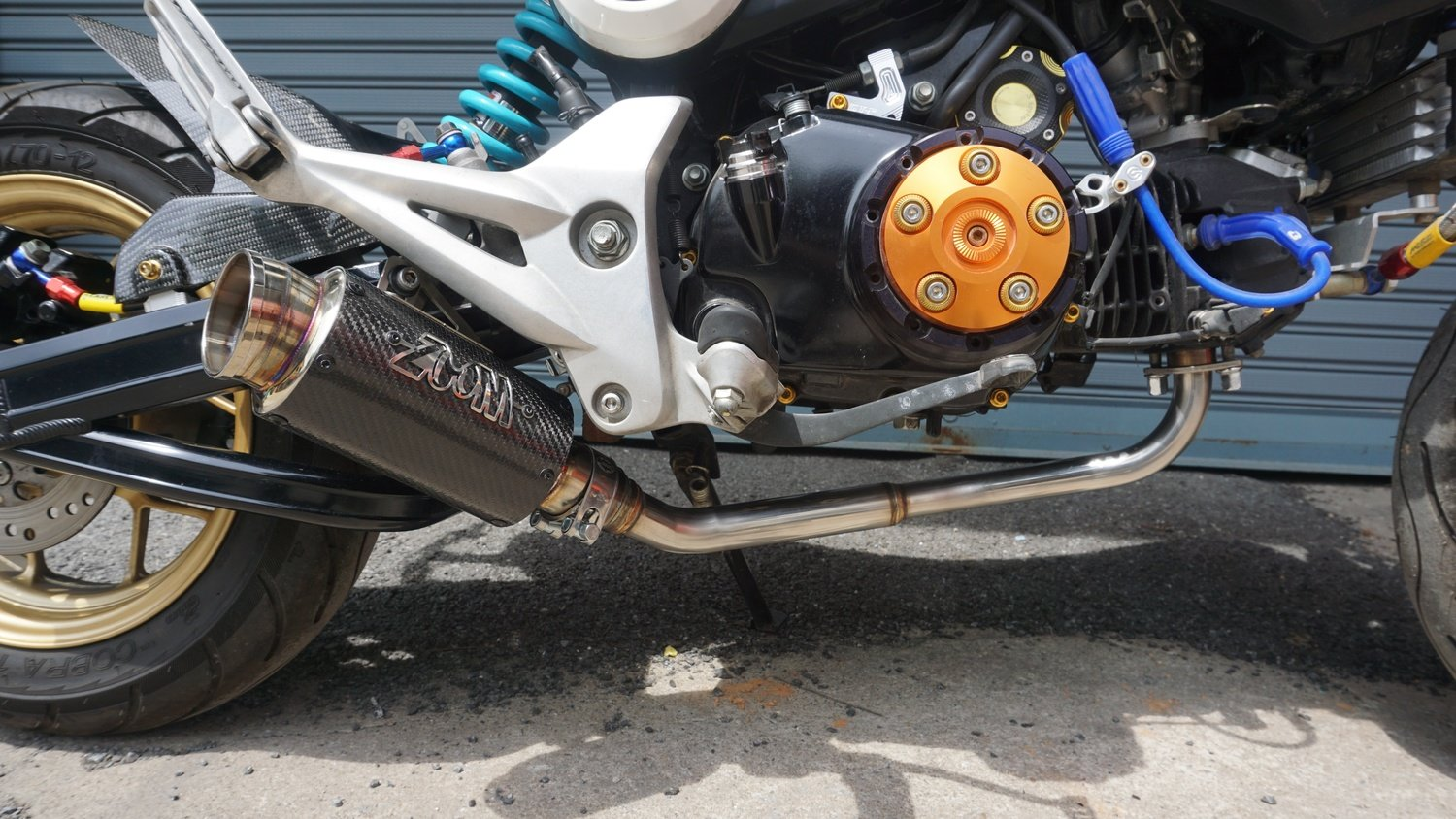 ZoOM Exhaust Honda MSX 125 GROM 125SF 2013-2019 Full System Low Mount Stunt  Carbon Fiber 2SLZ