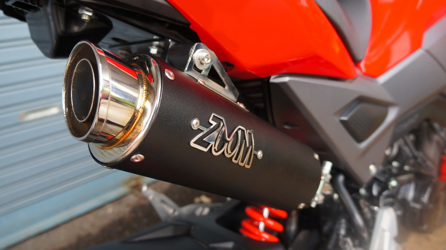 ZoOM Exhaust Honda GROM 125 MSX SF 2017-2019 Full System High Mount Black  SLZ