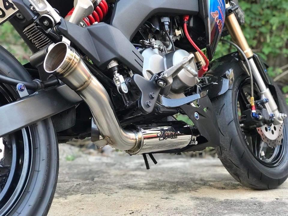 2017 Kawasaki Z125 Pro >> Zoom Exhaust The Brute Kawasaki Z125 Pro 2017 2019 Full System Low Mount New