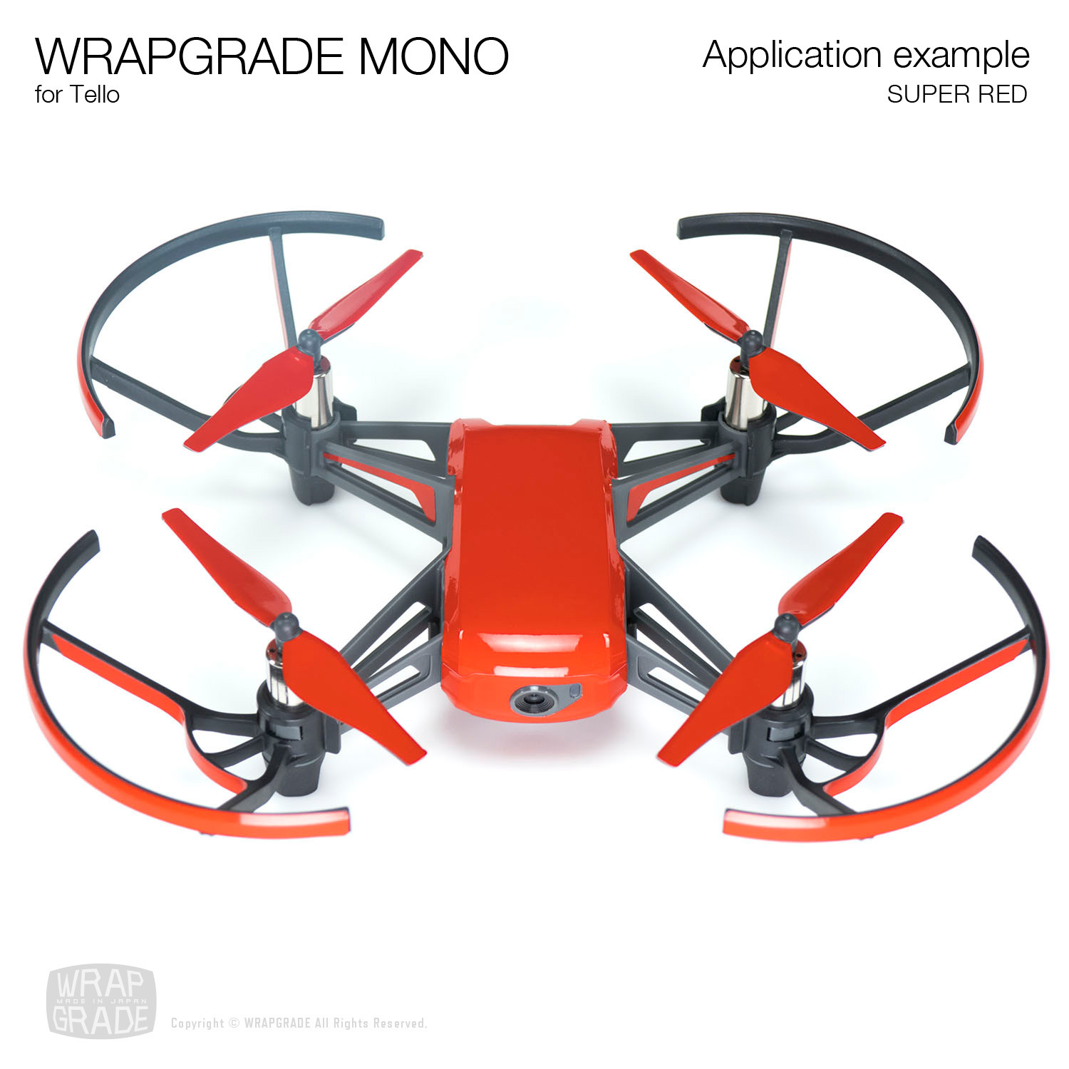 Wrapgrade Mono Skin for Tello | Super Red