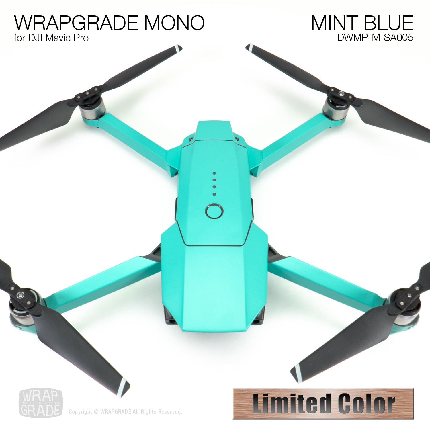 MINT BLUE for DJI Mavic Pro Skin | Half Gloss
