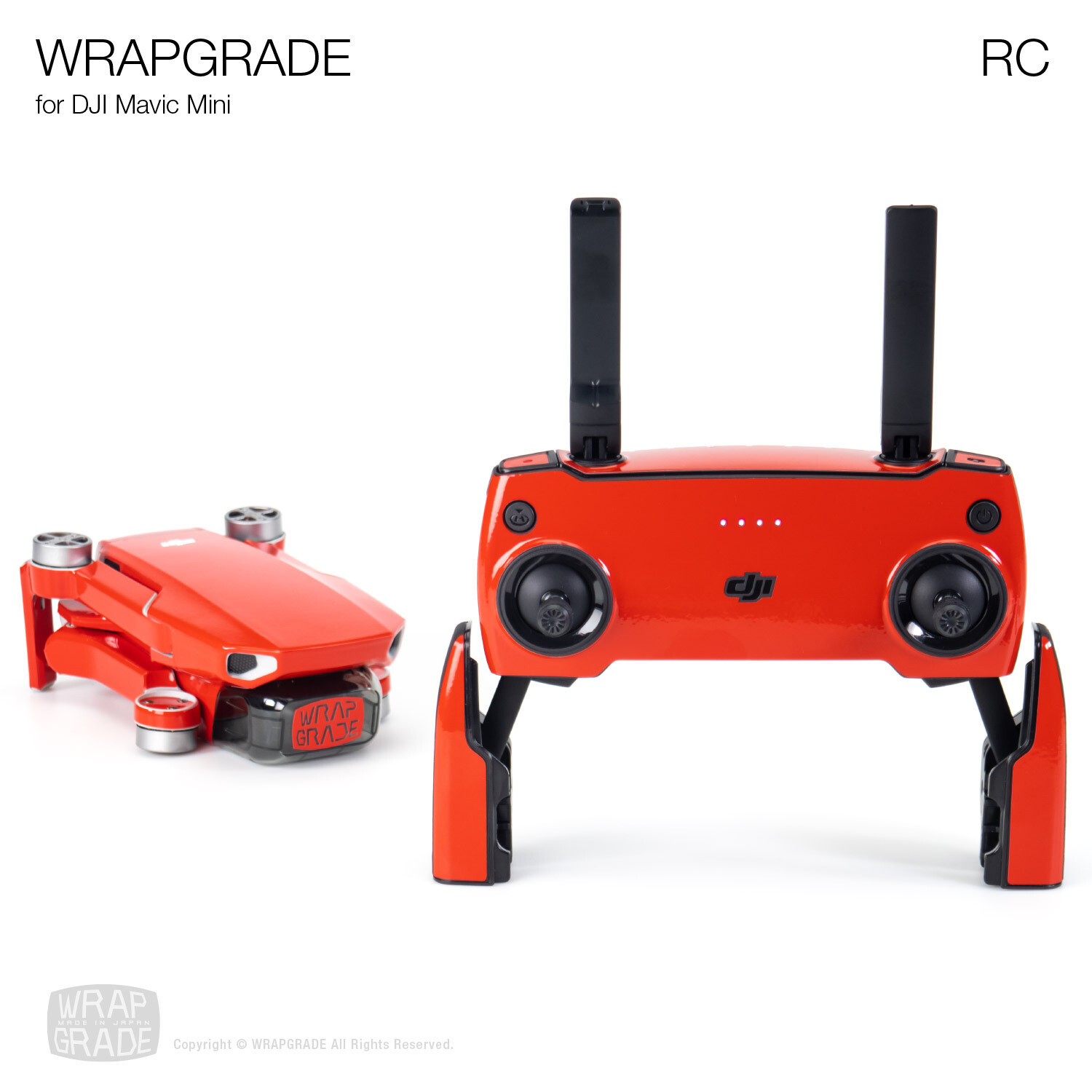 Wrapgrade Poly Skin for DJI Mavic Mini | RC [20 colors]