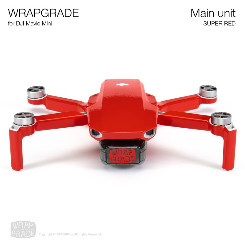 Wrapgrade Poly Skin for Mavic Mini | Main Unit (SUPER RED)