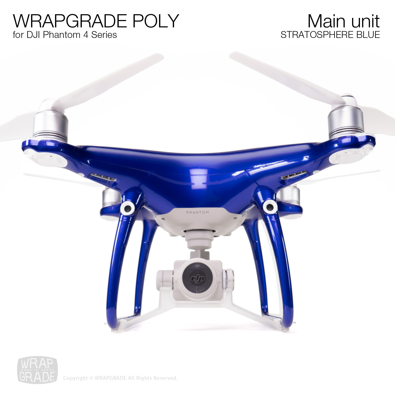 Wrapgrade Poly Skin for DJI Phantom 4 | Main unit (STRATOSPHERE BLUE)