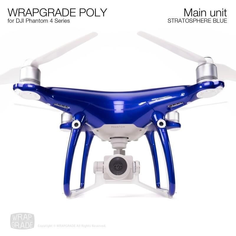 Wrapgrade Poly Skin for DJI Phantom 4 | Main unit (STRATOSPHERE BLUE)