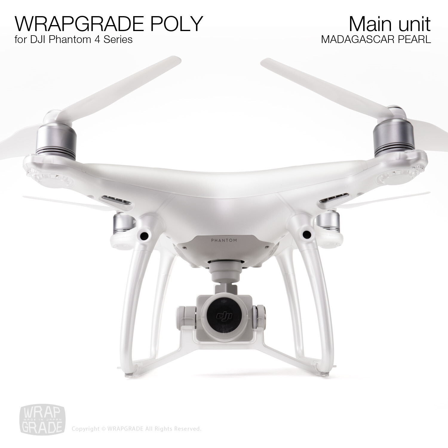 Wrapgrade Poly Skin for DJI Phantom 4 | Main unit (MADAGASCAR PEARL)