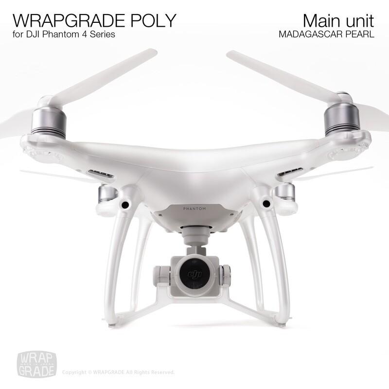 Wrapgrade Poly Skin for DJI Phantom 4 | Main unit (MADAGASCAR PEARL)