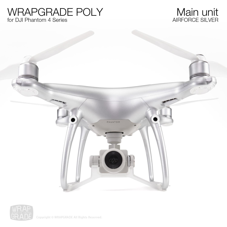 Wrapgrade Poly Skin for DJI Phantom 4   Main unit (AIRFORCE SILVER)