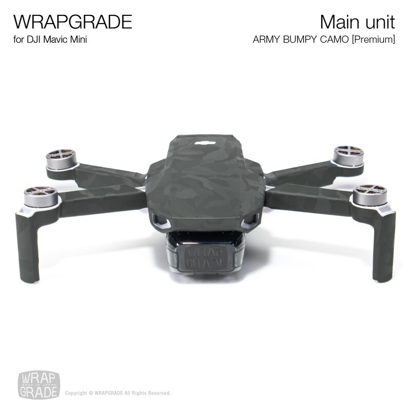 Wrapgrade Poly Skin for Mavic Mini | Main Unit (ARMY BUMPY CAMO)