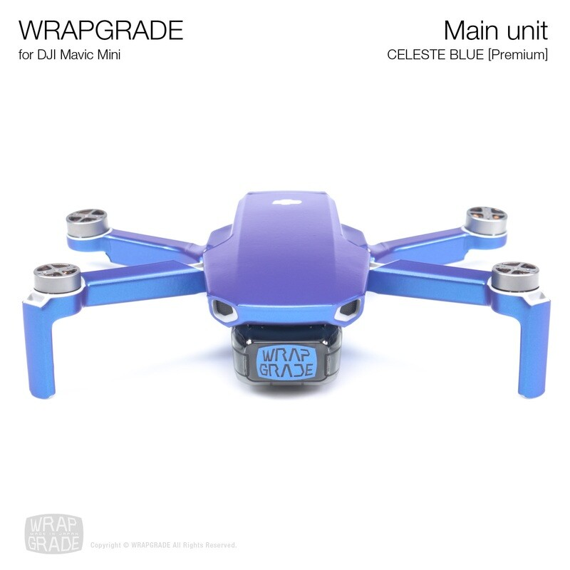 Wrapgrade Poly Skin for Mavic Mini | Main Unit (CELESTE BLUE)