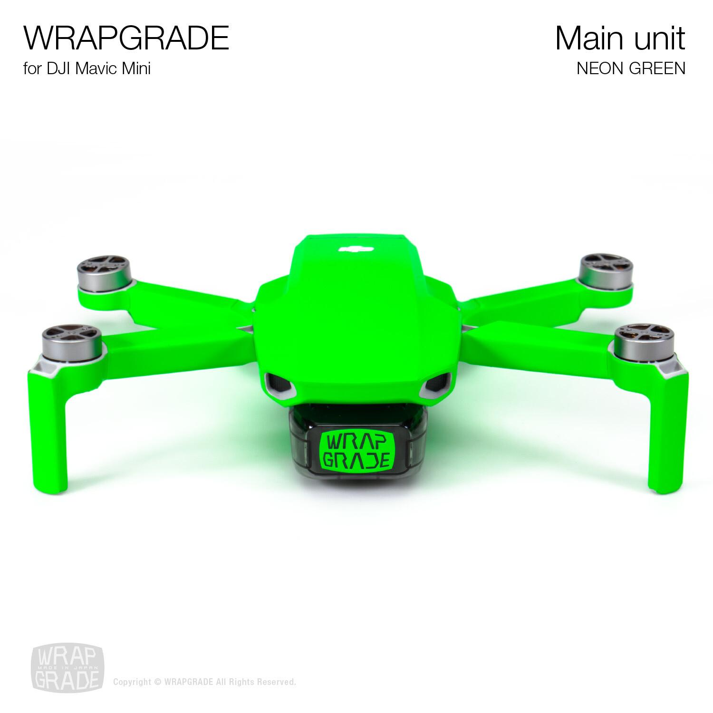 Wrapgrade Poly Skin for Mavic Mini | Main Unit (NEON GREEN)