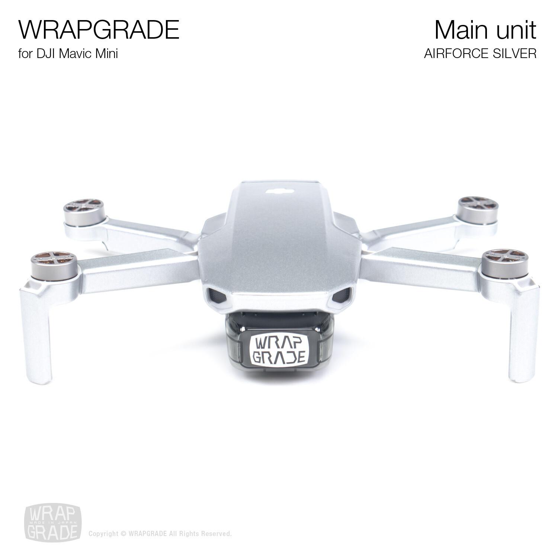 Wrapgrade Poly Skin for Mavic Mini | Main Unit (AIRFORCE SILVER)