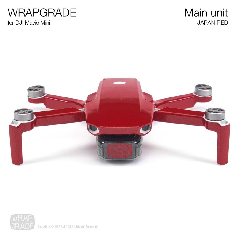 Wrapgrade Poly Skin for Mavic Mini | Main Unit (JAPAN RED)