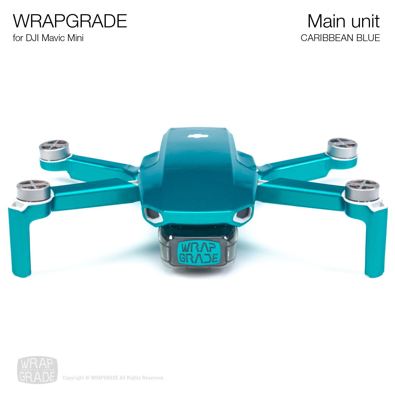 Wrapgrade Poly Skin for Mavic Mini | Main Unit (CARIBBEAN BLUE)