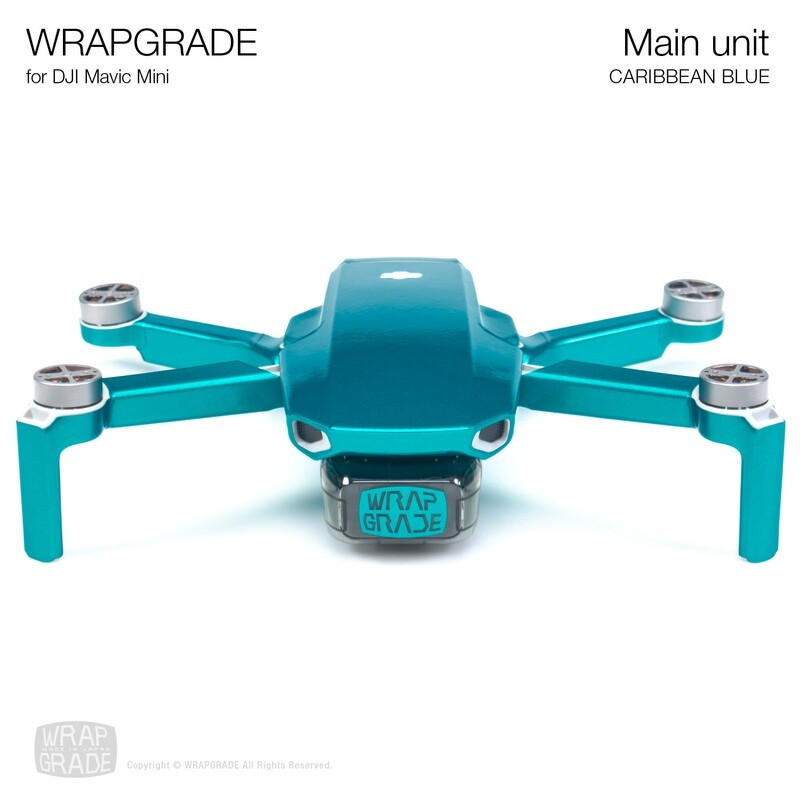 Wrapgrade Poly Skin for Mavic Mini | Main Unit (CARIBBEAN BLUE)