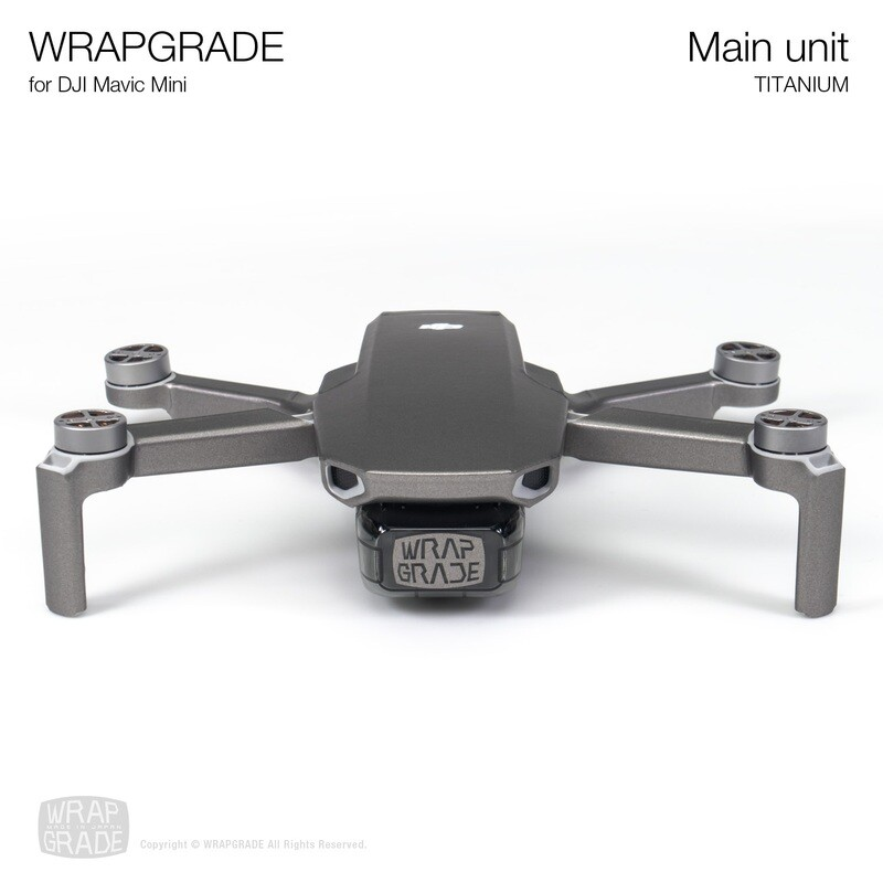 Wrapgrade Poly Skin for Mavic Mini | Main Unit (TITANIUM)