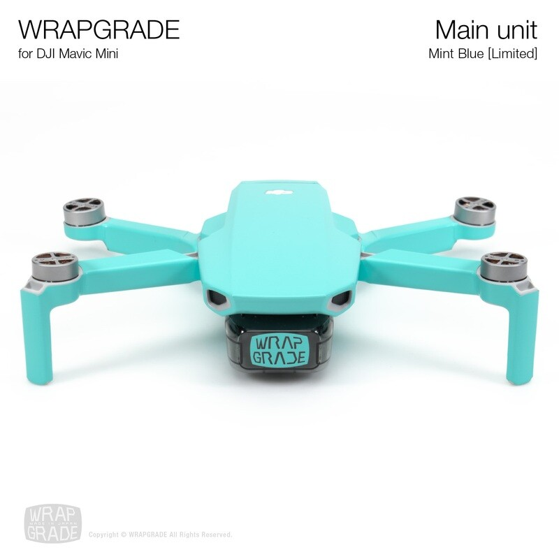 Wrapgrade Poly Skin for Mavic Mini | Main Unit (MINT BLUE)