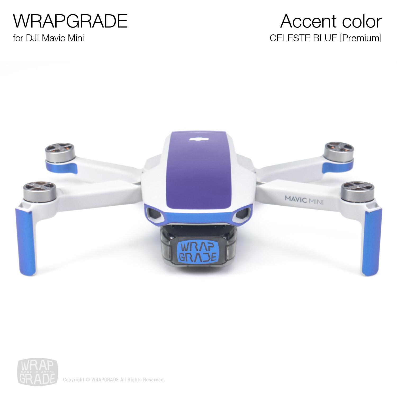 Wrapgrade Poly Skin for Mavic Mini   Accent color (CELESTE BLUE)