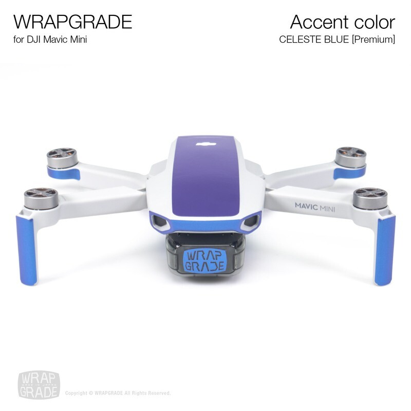 Wrapgrade Poly Skin for Mavic Mini | Accent color (CELESTE BLUE)