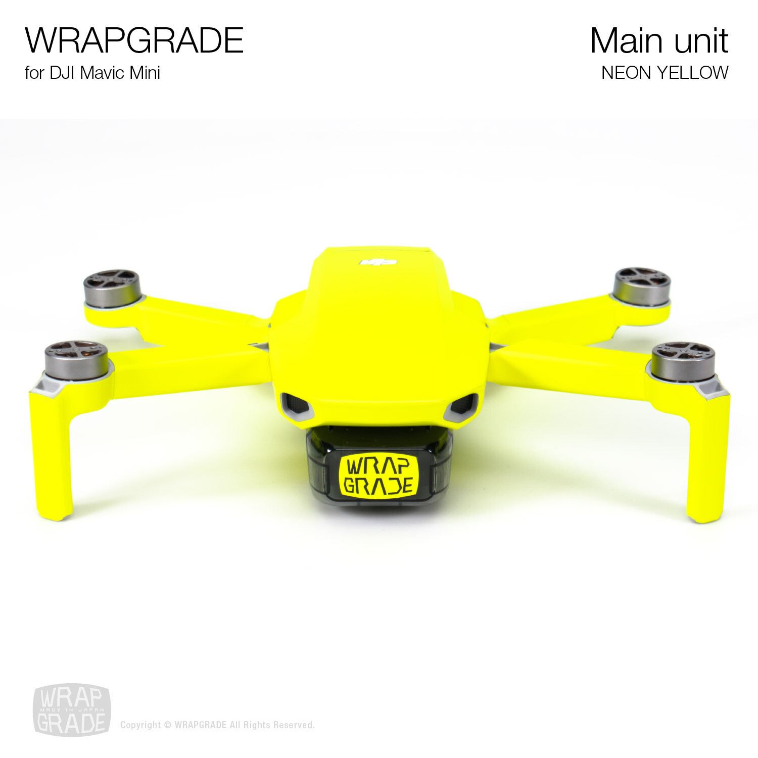 Wrapgrade Poly Skin for Mavic Mini | Main Unit (NEON YELLOW)